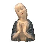 Goldscheider Madonna Figural Bust Everlast Corp U.S.A. c. 1940s