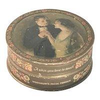Art Deco Woodbury's Facial Powder Litho Box The Andrew Jergens Company