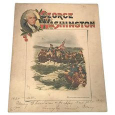 George Washington Children's Book Sam Gabriel Sons & Company No. 228 New York c. 1918 Rare. FREE SHIPPING!