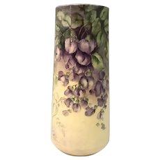 Willets American Belleek Hand Painted Floral Vase c. 1884-1909