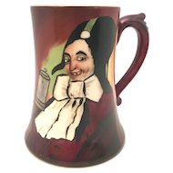 Jean Pouyat Limoges Hand Painted Porcelain Comical Character Tankard Mug c. 1909