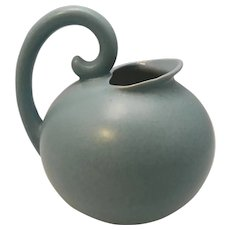 Stangl Pottery Matte Blue Ball Pitcher #3211 USA