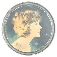 Art Deco Betty Compson Beautebox by Henry Clive Canco Tin Litho Canister c. 1920s