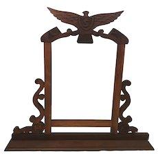 AAFA Folk Art Patriotic Eagle Carved Wood Frame c. Early 1900s Americana FREE SHIPPING!