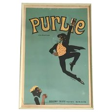 Original Purlie Broadway Musical Framed Poster (1970) FREE SHIPPING!