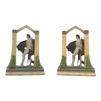 Sir Galahad with Horse Arts Crafts Products Co. Bookends Chicago c. 1920s