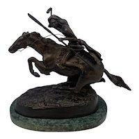 The Cheyenne After Frederic Remington Cast Bronze Sculpture on Marble FREE SHIPPING!