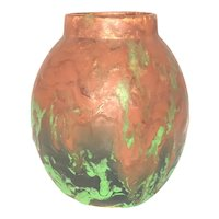 Arts & Crafts Weller Pottery Greora Pattern Glaze Jar c. 1930s Rare FREE SHIPPING!