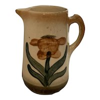Arts & Crafts Brush-McCoy Pottery Flower Jug Pitcher No. 33 Copenhagen Hand Decorated c. 1912