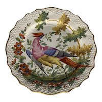 19th C. Chelsea Style Samson Hand Painted Exotic Fancy Bird Plate FREE SHIPPING!