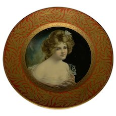 Dresden Art Plate The Meek Company Tin Litho Lenore signed B. Geyer No. 207 c. 1907 FREE SHIPPING!