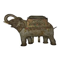 Antique Cast Iron Elephant Cigarette Dispenser c. 1920 FREE SHIPPING!