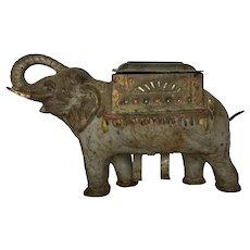 Antique Cast Iron Elephant Cigarette Dispenser c. 1920 FREE SHIPPING!