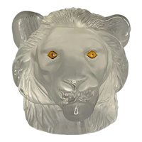 Saint-Louis Lion Crystal Paperweight FREE SHIPPING!