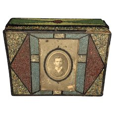 19th Century Black Americana Folk Art Box AAFA FREE SHIPPING!