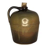 Peoria Pottery Brown Glazed Stoneware Jug c. 1873-1889 Illinois FREE SHIPPING!