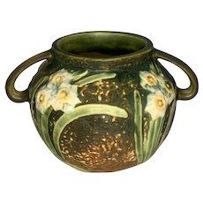 Roseville Pottery Jonquil Vase 524-4 FREE SHIPPING!