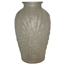 The Hocking Glass Company Peacock Vase c. 1905-1937