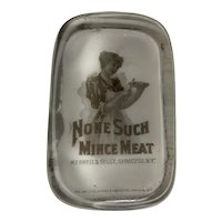 Antique Paperweight None Such Mince Meat Merrell & Soule Co. Syracuse, N.Y. c. 1882 FREE SHIPPING!
