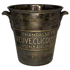 Argit Champagne Ice Bucket Veuve Clicquot Ponsardin Paris, France c. 1940s FREE SHIPPING!