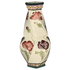 Royal Dux Art Nouveau Hand Painted Vase FREE SHIPPING!