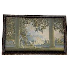 Maxfield Parrish Daybreak Reinthal & Newman Lithograph Under Glass Original Frame c. 1920s