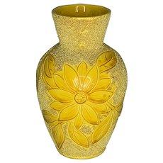 Antique Sand Majolica Sunflower Vase England 19th Century FREE SHIPPING!