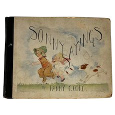 First Edition Sonny Sayings by Fanny Y. Cory Published E.P. Dutton & Co. New York c. 1929 FREE SHIPPING!