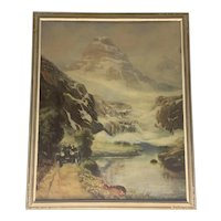 R. Atkinson Fox Where Brooks Send Up A Cheerful Tune #2263 Lithograph Under Glass in Period Frame