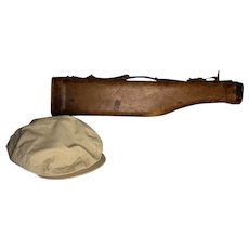Abercrombie and Fitch Leg of Mutton Gun Case Plus Safari Hat FREE SHIPPING!