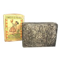 Peruvian Filigree Silver Match Box Holder FREE SHIPPING!