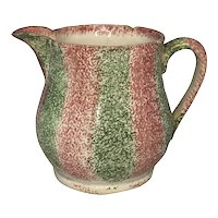 19th Century Rainbow Spatterware Staffordshire Creamer FREE SHIPPING!