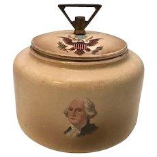 A C Bosselman & Co Washington Humidor or Tea Caddy Rare