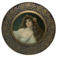 Dresden Art Plate The Meek Company Tin Litho Louise No. 200 FREE SHIPPING!