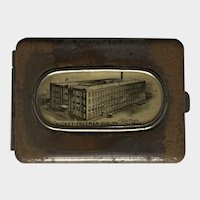 Antique Celluloid Match Safe Vesta Case Advertisement for Hickey-Freeman Company Rochester, New York