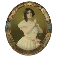 Antique Julia Marlowe Serving Tray Advertisement for Kilgour Rimer Co.