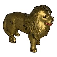 Hubley Cast Iron Lion Still Bank c. 1910s