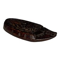 19th Century Mahogany Snuff Shoe Box FREE SHIPPING!