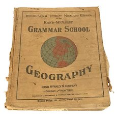 Grammar School Geography Textbook Rand-McNally c. 1897