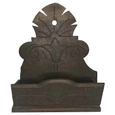 19th Century Primitive Candle Wall Box FREE SHIPPING!