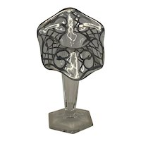 Silver Overlay Jack in the Pulpit Glass Vase