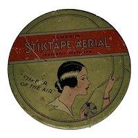 Art Deco Sampson Stiktape Aerial Tin