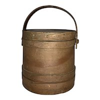 Antique Primitive New England Firkin Sugar Bucket with Lid FREE SHIPPING!