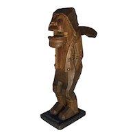 Antique Folk Art Carved Wood Nutcracker Man