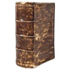 Bennington Flint Enamel Book Flask titled Departed Spirits attributed to Lyman, Fenton & Co. c.1849 FREE SHIPPING!