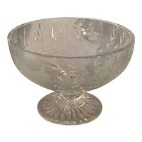 Stuart Cascade Cut Crystal Compote Footed Fruit Bowl