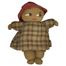 Primitive Folk Art Sock Cloth Rag Doll