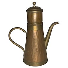 Vabelux Hammered Copper & Brass Coffeepot or Tea Kettle