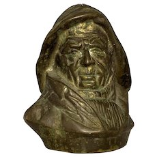 Cast Metal Fisherman Nautical Bust