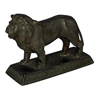 Monarch Fire Insurance Co. Lion Paperweight c. 1930s RARE!